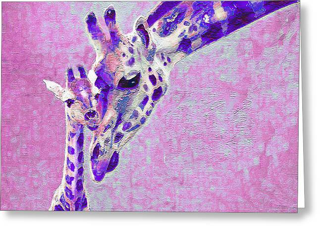Abstract Giraffes2 Greeting Card by Jane Schnetlage