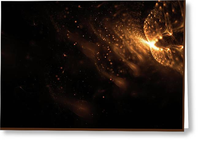 Abstract Glowing Particles Wallpaper Greeting Card by StarLineArts