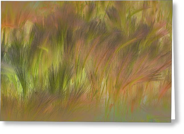 Abstract Grasses Greeting Card by Ronald Hoggard
