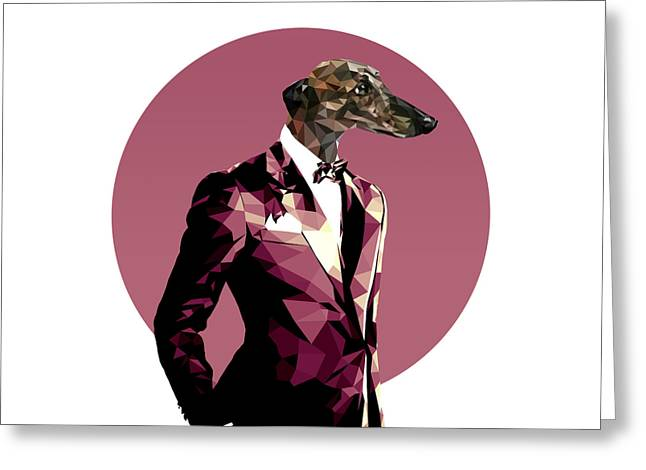 Abstract Greyhound 1 Greeting Card