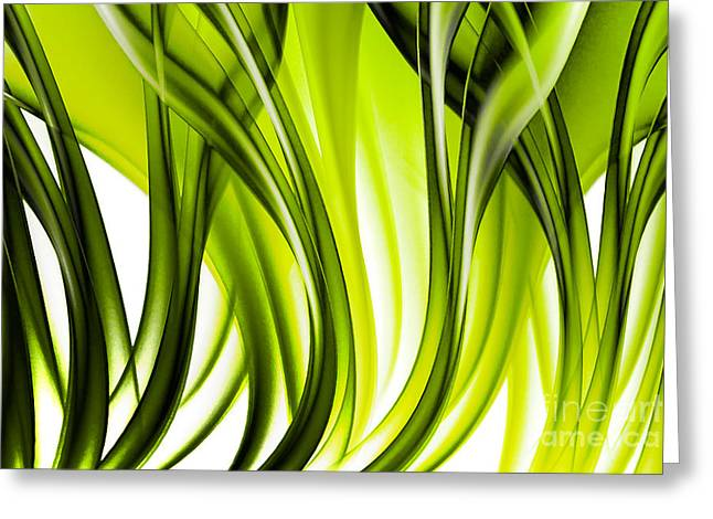 Abstract Green Grass Look Greeting Card