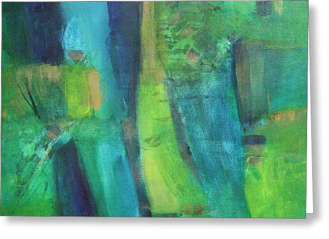 Abstract Green Greeting Card