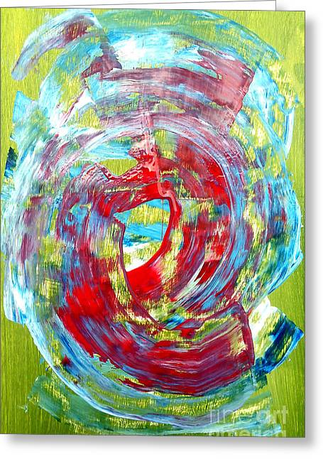 Abstract Green/red Greeting Card by Jay Anthony Gonzales