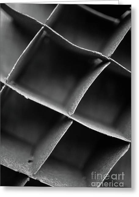Abstract Grid 1 Greeting Card by Edward Fielding