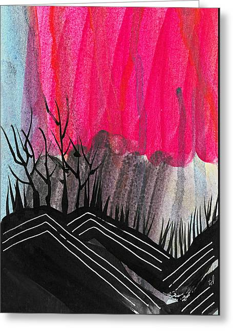 Abstract Hills 1 Greeting Card by Tonya Doughty