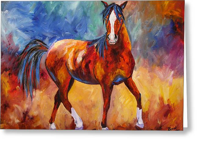 Abstract Horse Attitude Greeting Card