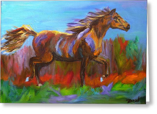 Abstract Horse Painting Greeting Card
