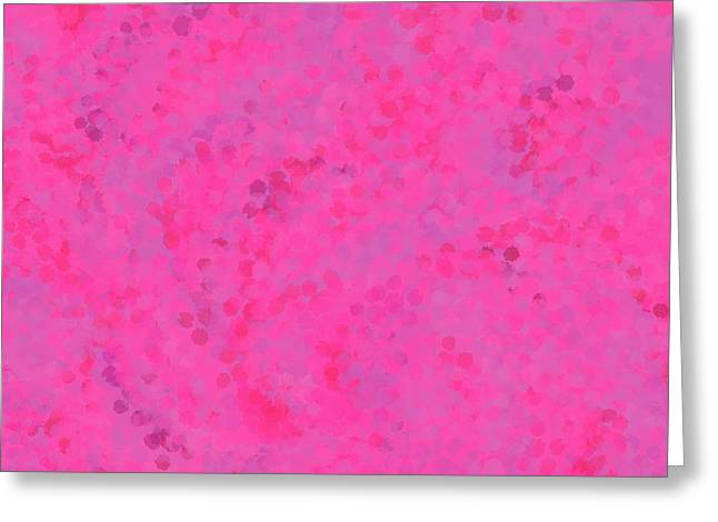 Greeting Card featuring the mixed media Abstract Hot Pink And Lilac 4 by Clare Bambers