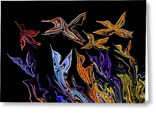 Abstract Hummers Greeting Card