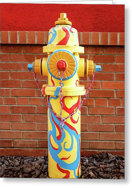 Greeting Card featuring the photograph Abstract Hydrant by James Eddy