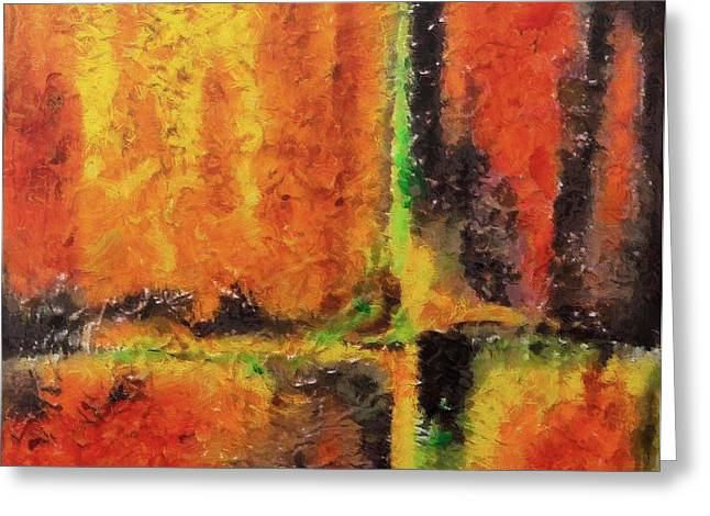 Greeting Card featuring the mixed media abstract I by Dragica  Micki Fortuna