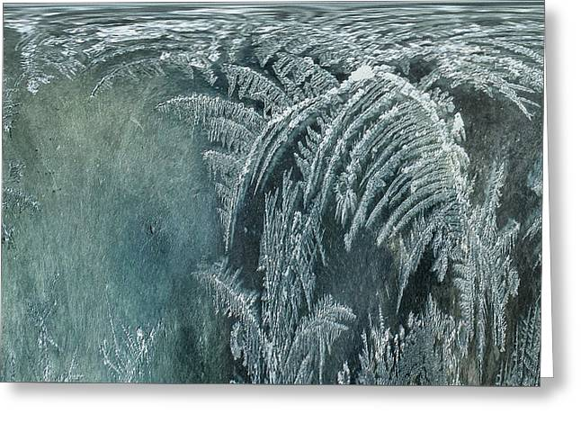 Greeting Card featuring the digital art Abstract Ice Crystals by Robert G Kernodle