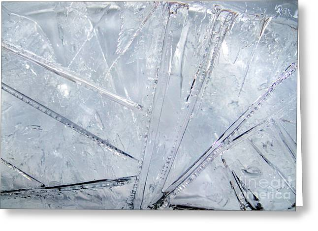 Abstract Ice. Morning Greeting Card