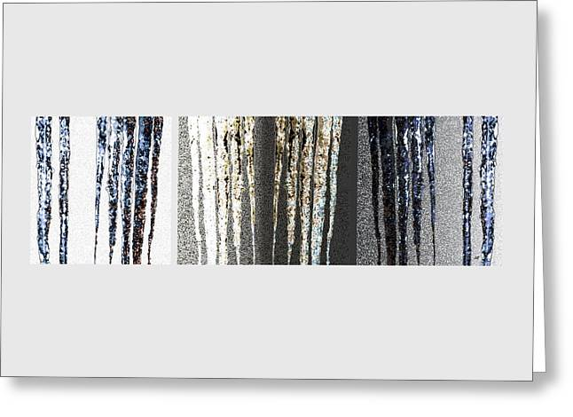 Greeting Card featuring the digital art Abstract Icicles by Will Borden