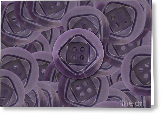 Abstract Image Of The Buttons Greeting Card