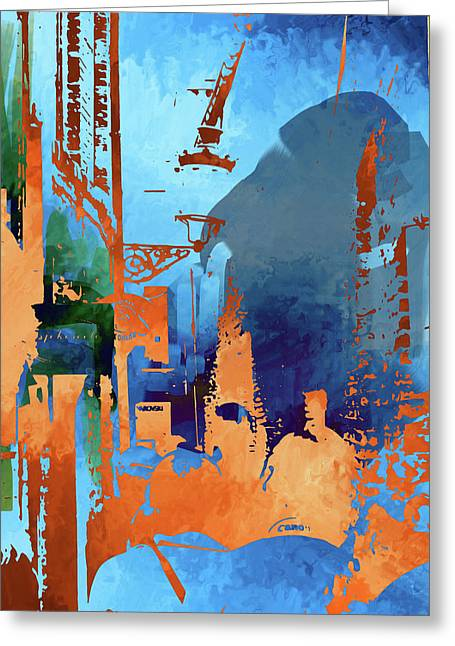 Abstract  Images Of Urban Landscape Series #1 Greeting Card
