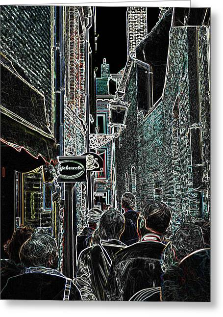 Abstract  Images Of Urban Landscape Series #12b Greeting Card