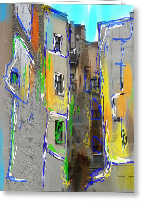 Abstract  Images Of Urban Landscape Series #13 Greeting Card