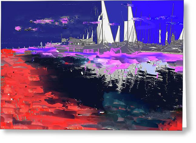 Abstract  Images Of Urban Landscape Series #14 Greeting Card