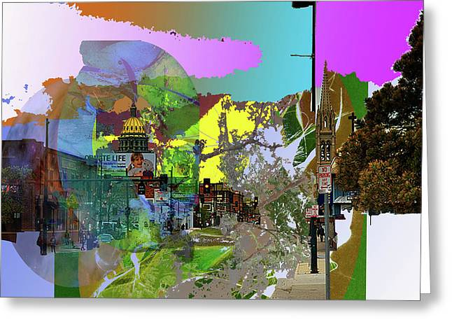 Abstract  Images Of Urban Landscape Series #5 Greeting Card