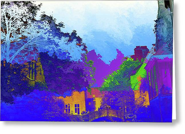 Abstract  Images Of Urban Landscape Series #8 Greeting Card