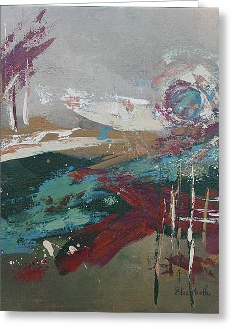 Abstract In Jewel Tones Greeting Card by Beth Maddox
