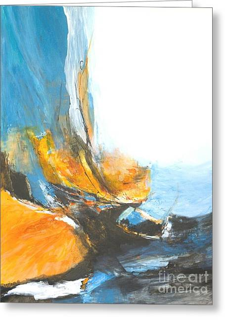 Abstract In Motion Greeting Card