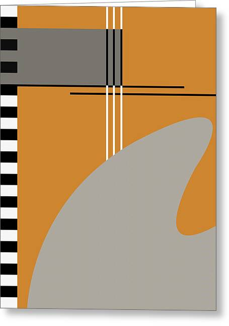 Abstract In Orange Greeting Card