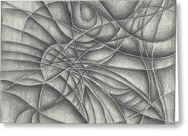 Abstract In Pencile Greeting Card
