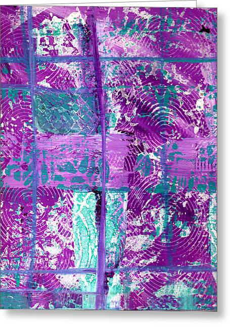 Abstract In Purple And Teal Greeting Card