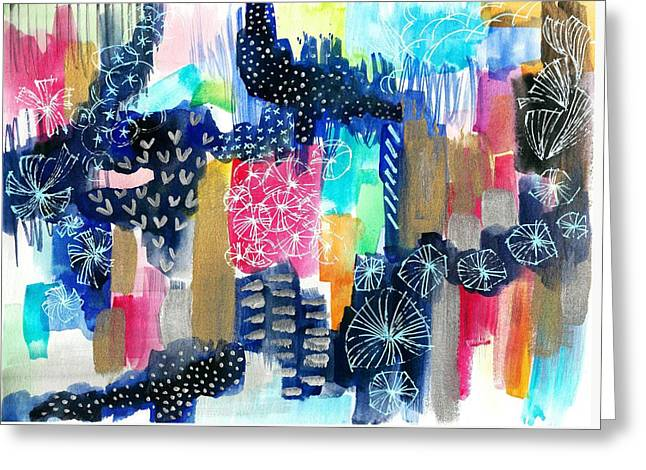 Abstract In Watercolor Greeting Card by My Art
