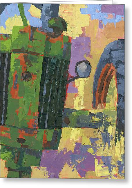 Abstract Johnny Greeting Card
