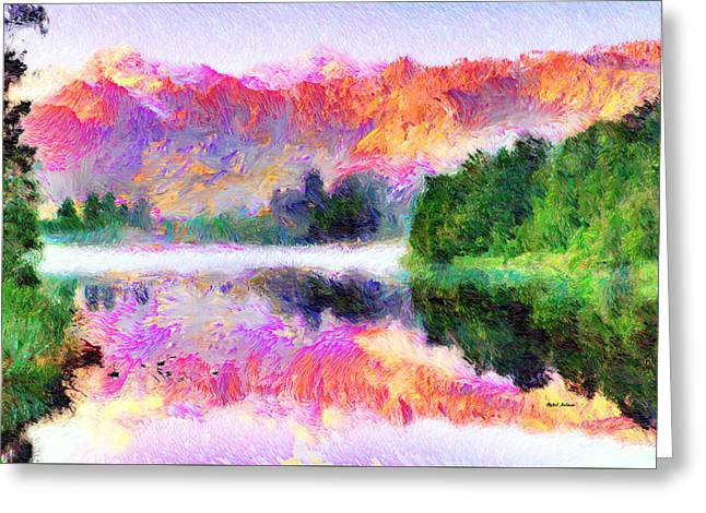Abstract Landscape 0743 Greeting Card by Rafael Salazar