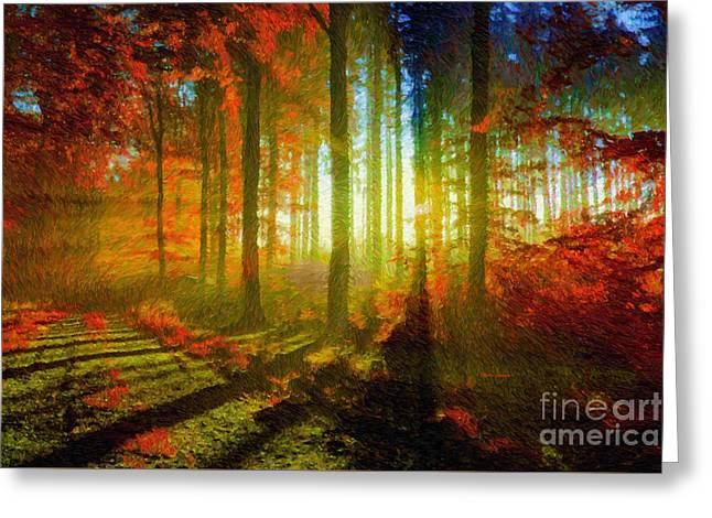 Abstract Landscape 0745 Greeting Card by Rafael Salazar