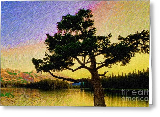 Abstract Landscape 0750 Greeting Card by Rafael Salazar