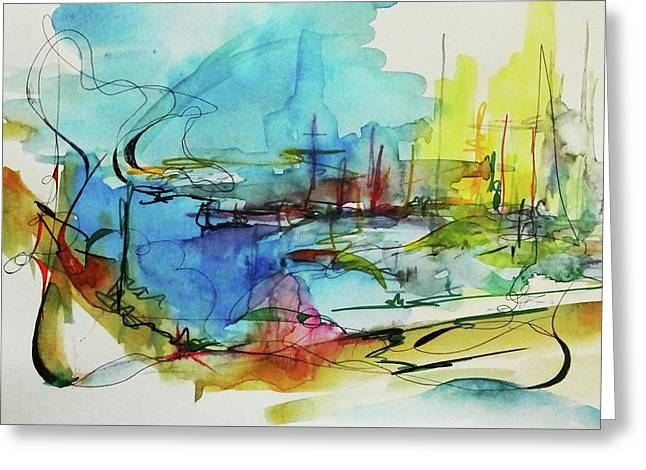 Abstract Landscape #1 Greeting Card