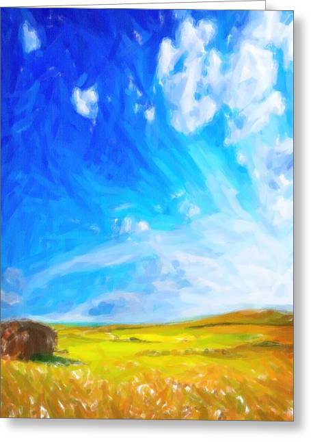 Abstract Landscape 2 Greeting Card by Celestial Images