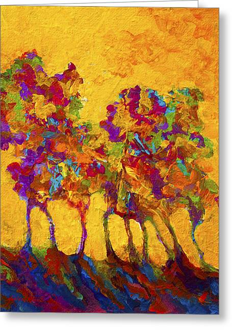 Autumn Aspens Greeting Cards - Abstract Landscape 3 Greeting Card by Marion Rose