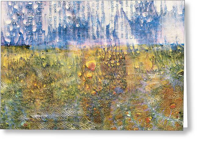 Abstract Landscape Art - Only Words - Sharon Cummings Greeting Card
