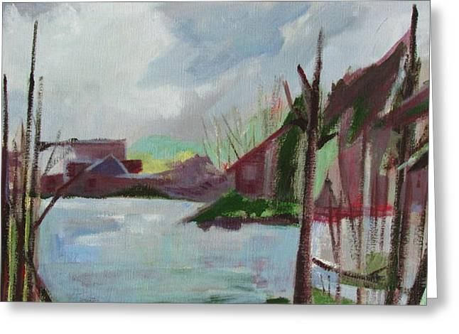 Greeting Card featuring the painting Abstract Landscape by Betty Pieper
