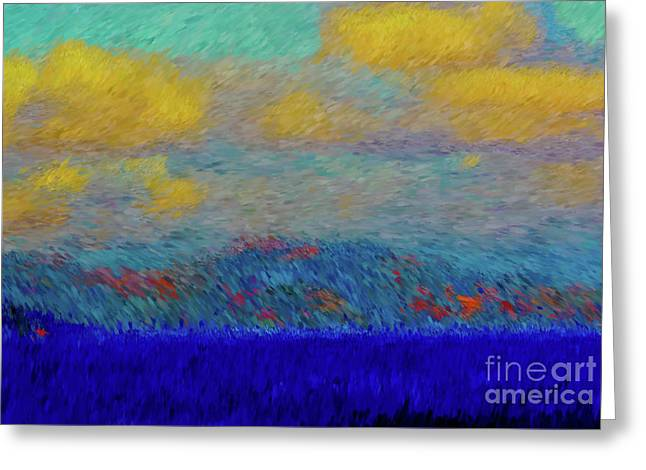 Abstract Landscape Expressions Greeting Card