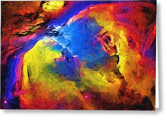 Abstract Landscape Greeting Card by Gina Roseanne