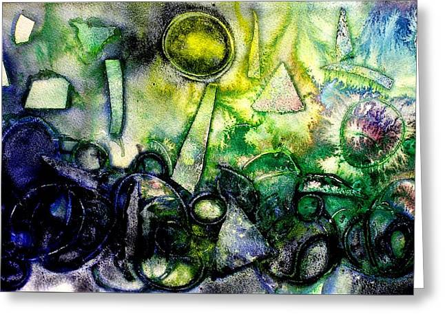 Abstract Landscape IIi Greeting Card by John  Nolan