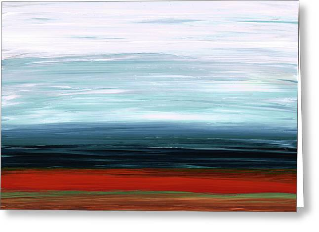 Abstract Landscape - Ruby Lake - Sharon Cummings Greeting Card by Sharon Cummings