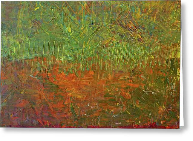 Abstract Landscape Series - Fallen Leaves Greeting Card