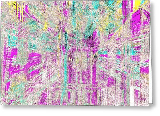 Abstract Lights  Greeting Card by Fania Simon