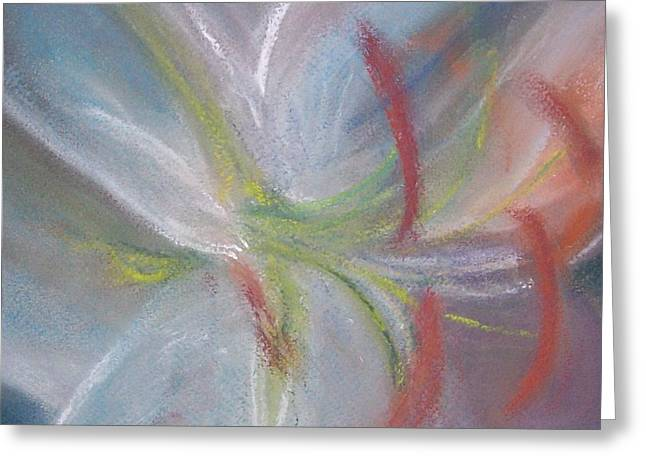 Abstract Lily Greeting Card by Jackie Bush-Turner