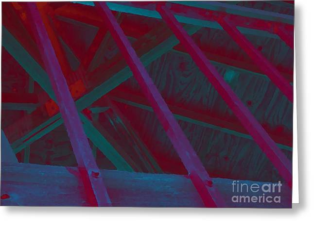Abstract Line Greeting Card by John  Bichler