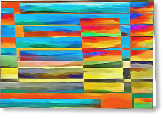 Abstract Lines And Shapes 2 Greeting Card by Edward Fielding