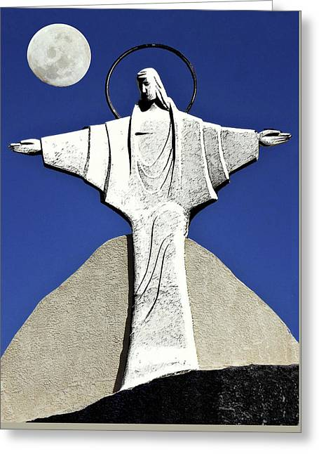 Abstract Lutheran Cross 5 Greeting Card by Bruce Iorio